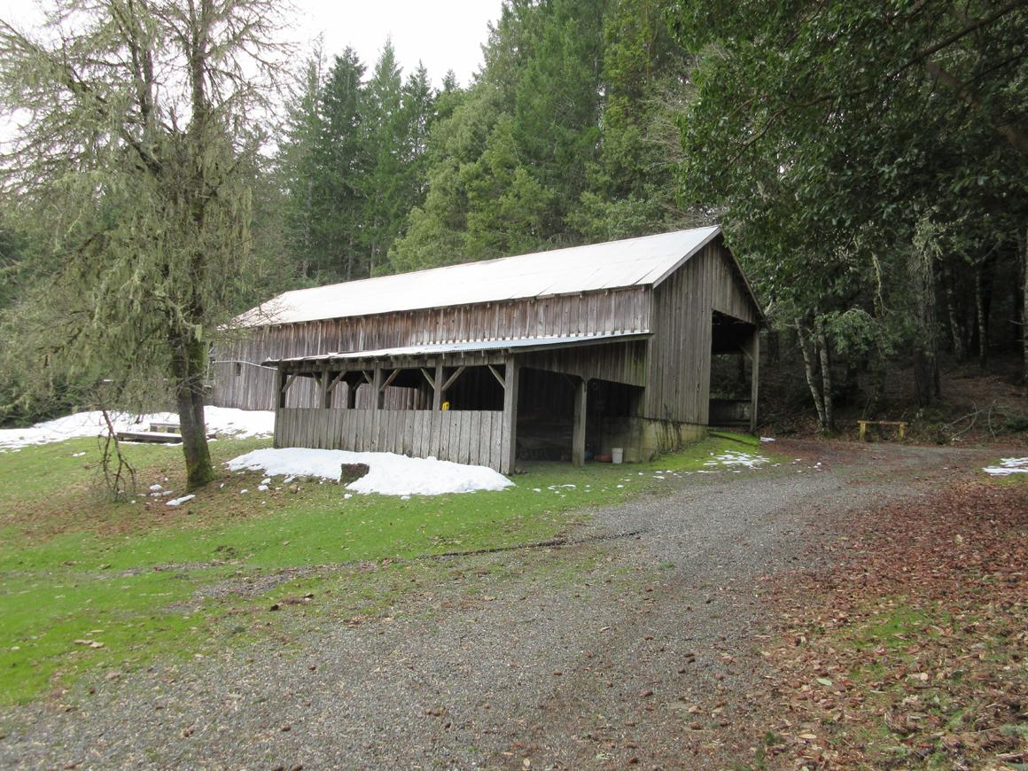 Barn and carports