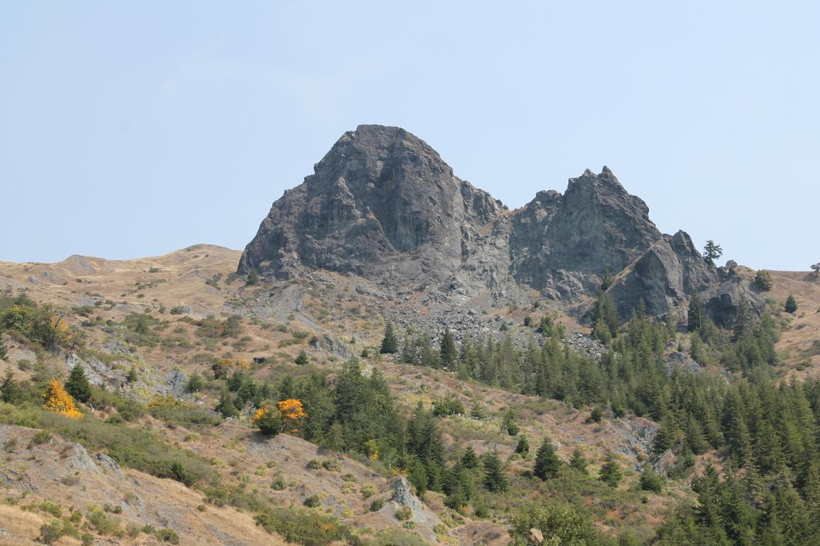 Huge rock outcropping