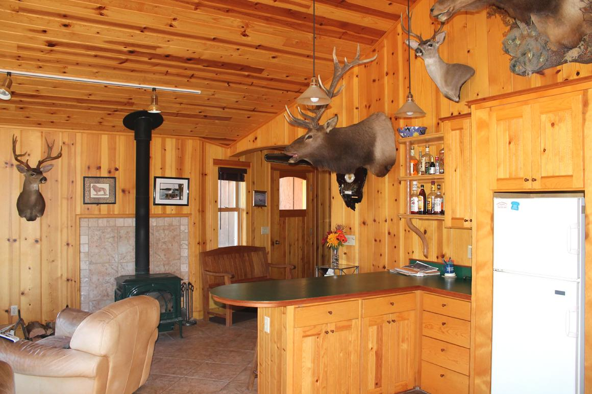 Lodge cabin interior