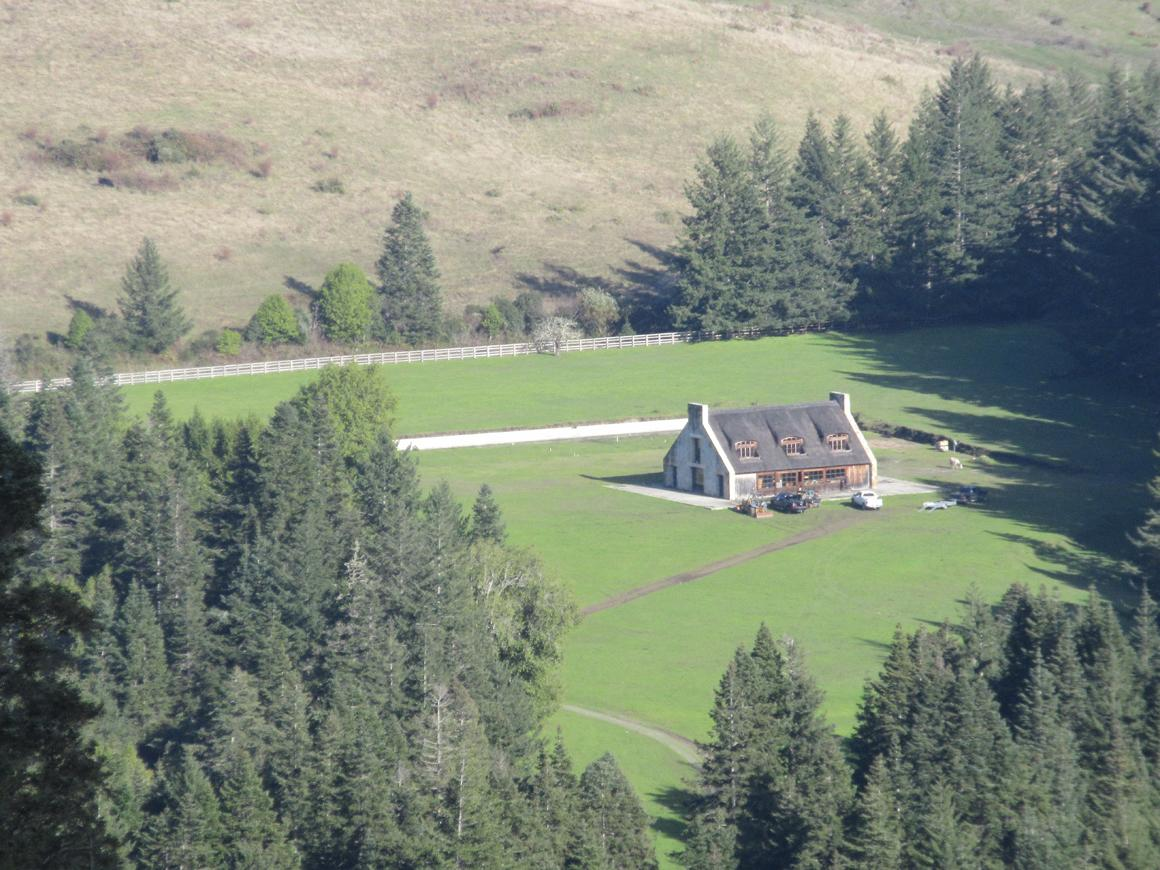 aerial of main house