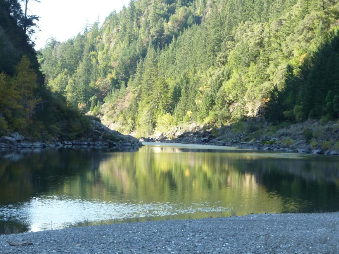 View from within the Eel River