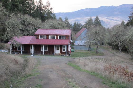 House, Barn and View